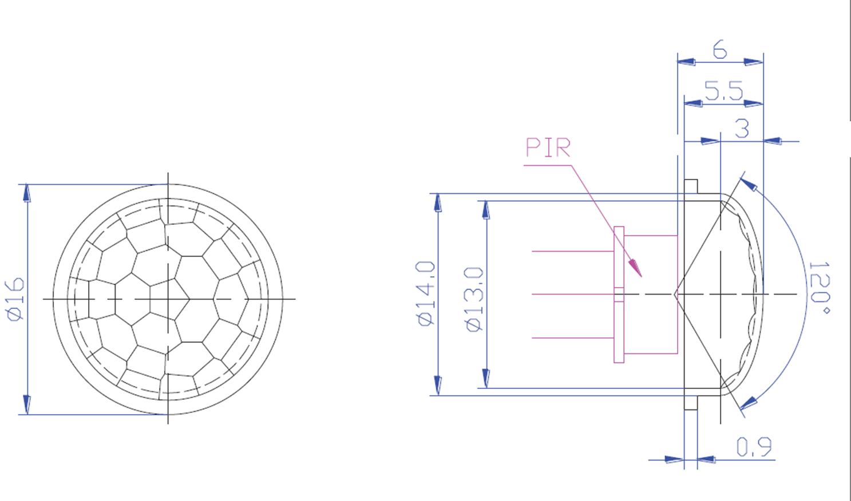 Fresnel Glass Restoration Bath Light: PIR Motion Detector(Infrared) :: Bosch Pir Detector, PD06